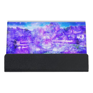 Garden of Serenity Desk Business Card Holder
