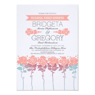 Garden Outdoor Rehearsal Dinner Invitation