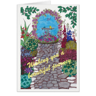Garden Path Good Luck Card