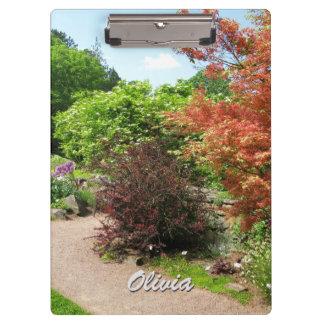 Garden Photo Lush Spring Park Path any Text Clipboard