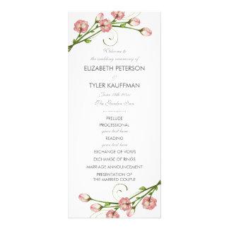 Garden Roses Wedding Program Rack Card
