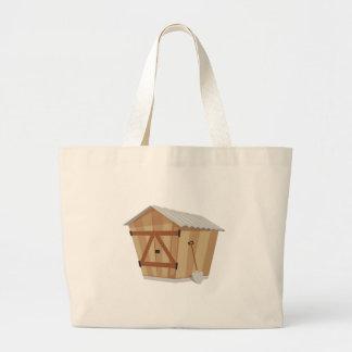 Garden Shed Large Tote Bag