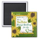 Garden Sunflower Prayer Magnet