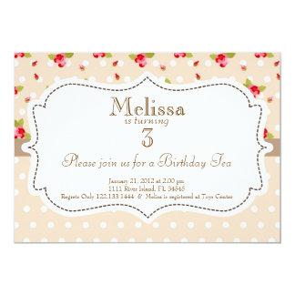 Garden Tea Party Birthday Invitation