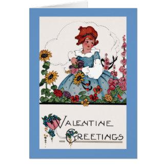 Garden Valentine Greeting Card