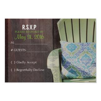 Garden Wedding RSVP Response card Summer Spring 9 Cm X 13 Cm Invitation Card