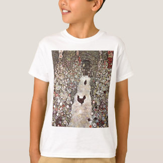 Garden with Roosters Cute T-Shirt