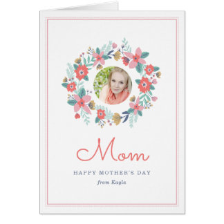 Garden Wreath Mother's Day Photo Card
