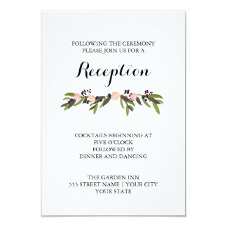 Garden Wreath Reception Card