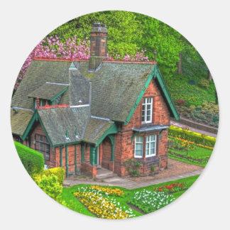 Gardener's cottage round sticker