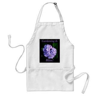 """Gardening Is Bliss!"" - Lavender Hydrangea Standard Apron"