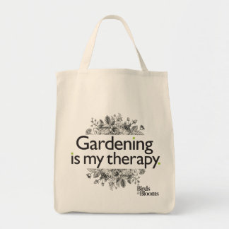 Gardening is my therapy tote bag
