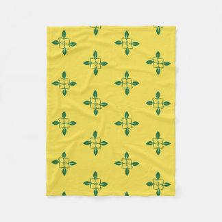 Gardening pattern fleece blanket