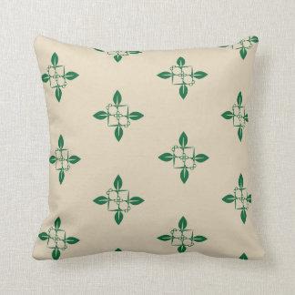 Gardening pattern throw pillow