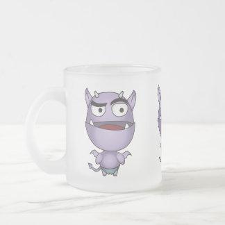Gargoyle Fantasy Cute Cartoon Frosted Glass Mug