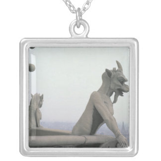 Gargoyle from the balustrade of the Grande Silver Plated Necklace