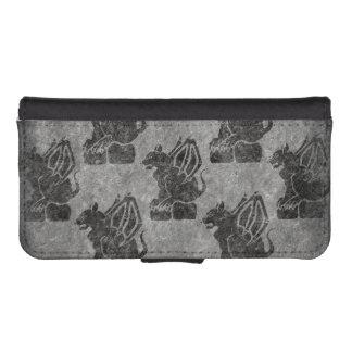 Gargoyle Gray Stone iPhone SE/5/5s Wallet Case