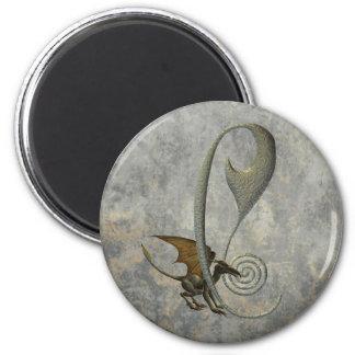 Gargoyle Monogram C Magnet