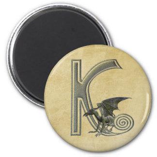 Gargoyle Monogram K Magnet