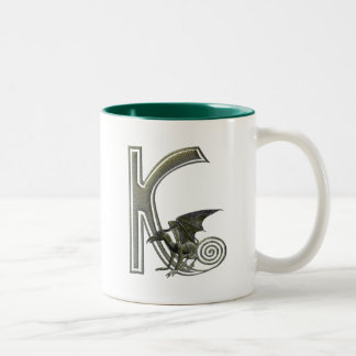 Gargoyle Monogram K Two-Tone Coffee Mug