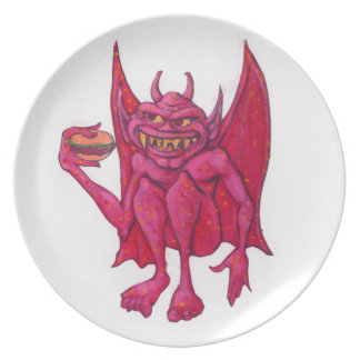 Gargoyle with Hamburger Plate