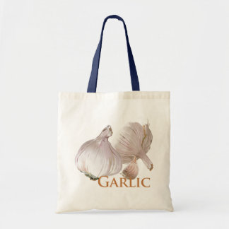 Garlic and Garlic Clove Tote Bag