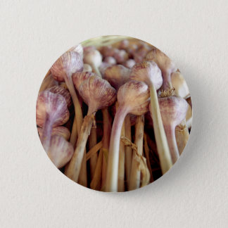 Garlic bulbs 6 cm round badge