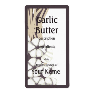 Garlic Butter Kitchen Label Shipping Label
