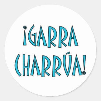 Garra charrúa classic round sticker