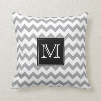 Gary Zig Zag Pattern with black monogram box Cushion