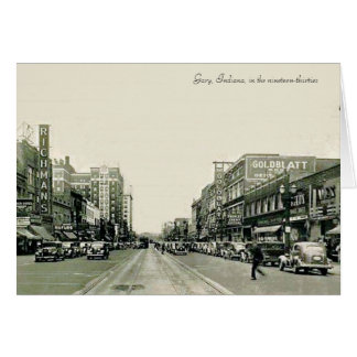 Gary's Broadway (Indiana) in the 1930s Card
