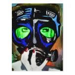 'Gas Mask Girl 2012' Postcard