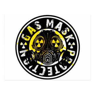 GAS_MASK_PROTECTION POSTCARD