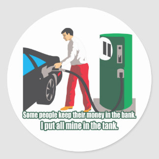 Gas Prices Classic Round Sticker