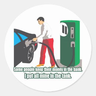 Gas Prices Round Sticker