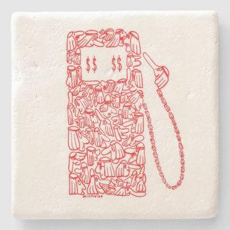 GAS PUMP, by NICHOLAS Stone Coaster