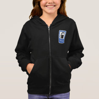 Gas Station Road Sign Girls Hoodie