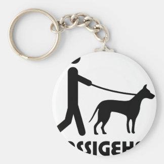 Gassigeher dog walker hund basic round button key ring