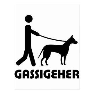 Gassigeher dog walker hund post card