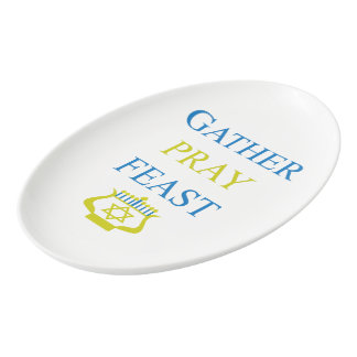 Gather Pray Feast Porcelain Serving Platter