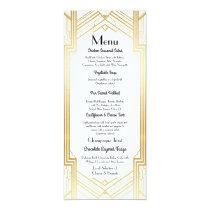 Gatsby Menu Wedding Reception 1920's Art Deco Card