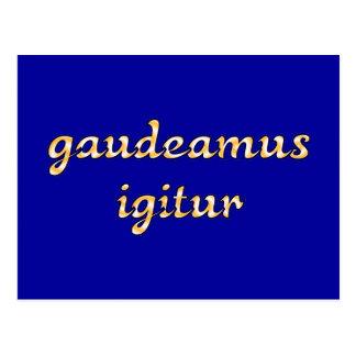 gaudeamus igitur Latein latin Postkarte