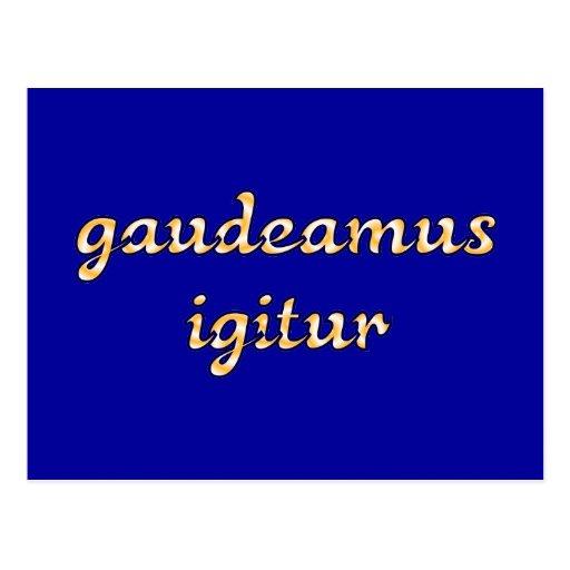 gaudeamus igitur latin latin post card
