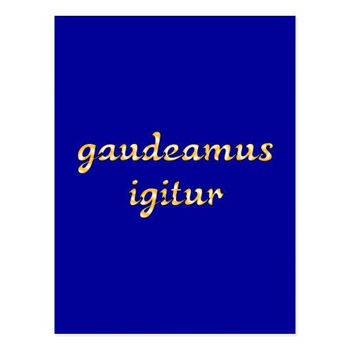 gaudeamus igitur latin latin postcards