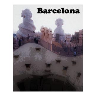 "Gaudi La Pedrera ""Stone Quarry"" Barcelona Poster"