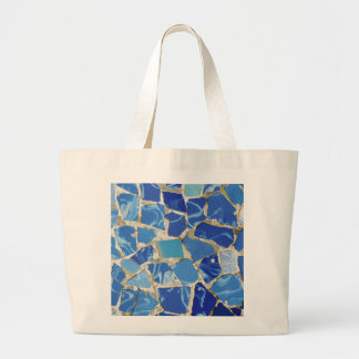 Gaudi Mosaics With an Oil Touch Jumbo Tote Bag