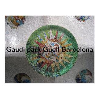 Gaudi park Guell Barcelona Postcard
