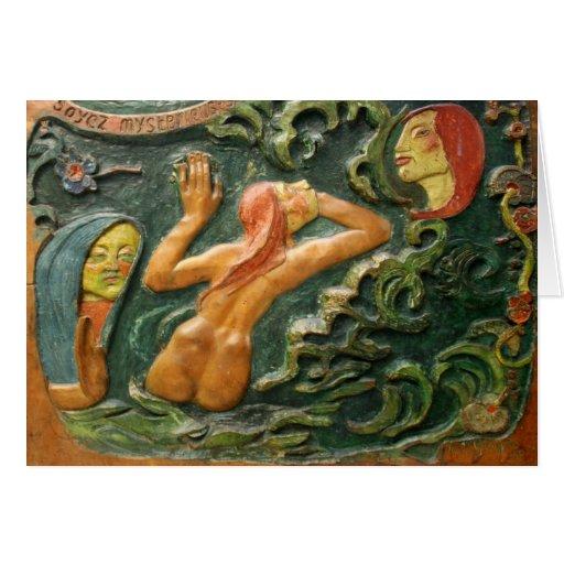 Gauguin: Tahiti Carving Greeting Card