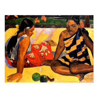 Gauguin - What's New? Painting by Paul Gauguin Postcard
