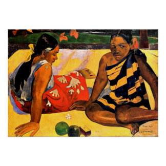 Gauguin - What's New? Painting by Paul Gauguin Print